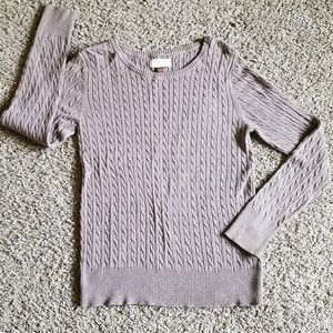 Sonoma tan cable knit sweater